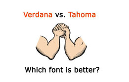 Verdana vs. Tahoma - which font is better?